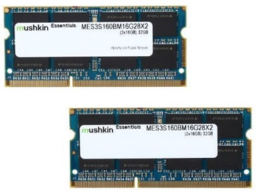 Mushkin Essentials 32GB DDR3 1600MHz CL11 SO-DIMM MES3S160BM16G28X2