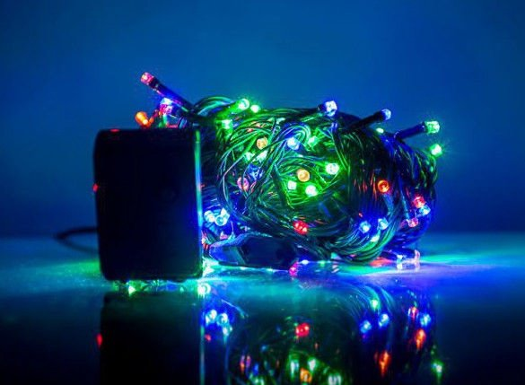 Elektriskā virtene EV LED 200, daudzkrāsaina, 14 m