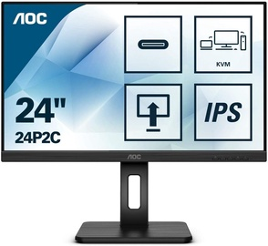 "Monitorius AOC 24P2C, 23.8"", 4 ms"