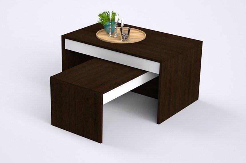 Coffee Table Desk.Szynaka Meble Kometa Two Piece Coffee Table Wenge