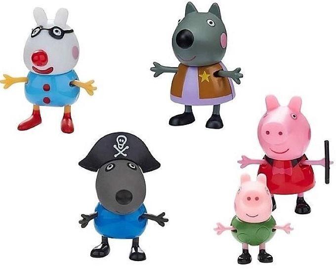 TM Toys Peppa Pig Fancy Dress 5 Figure Pack