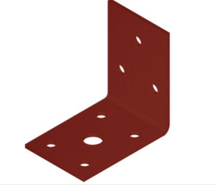 Крепежный уголок ANGLE BRACKET 50X50X35X2,0 RED