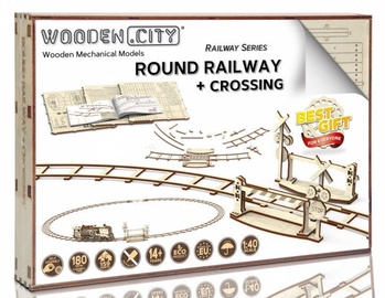 Wooden City Puzzle Round Railway + Crossing 159pcs