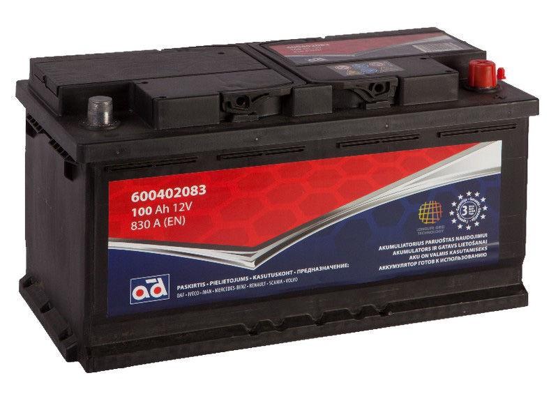 AD Baltic 600402083 Starter Battery 100Ah