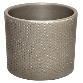 Горшок кер DOMOLETTI, WALEC KROPKI, д11, цвет серебр