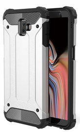 Hurtel Hybrid Armor Back Case For Samsung Galaxy J6 Plus J610 Silver