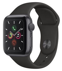 Apple Watch Series 5 40mm GPS Space Grey Aluminium Case with Black Sport Band