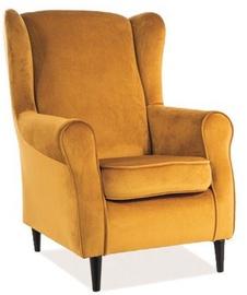 Кресло Signal Meble Baron, 75 x 80 x 101 см, желтый