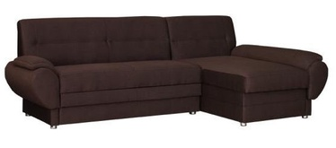 Kampinė sofa Bodzio Livonia Fabric Brown, 248 x 155 x 89 cm