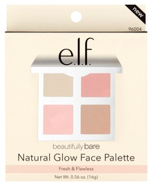 Veido kontūravimo paletė E.l.f. Cosmetics Beautifully Bare Natural Glow Face, 16 g