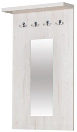 Bodzio Clothes Hanger With Mirror Panama Pearl Oak