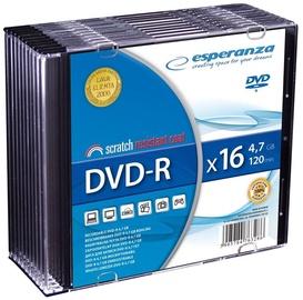 Esperanza 1112 DVD-R 16x 4.7GB Slim Jewel Case 10pcs