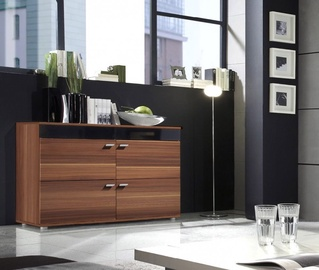 Cama Meble Logo II 120 Chest Of Drawers Plum/Black Gloss