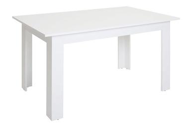 Обеденный стол Black Red White STO/138 BIS, белый, 1375x800x780мм