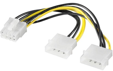 Akyga Adapter 2x Molex / PCI-Express 8-pin 0.15m