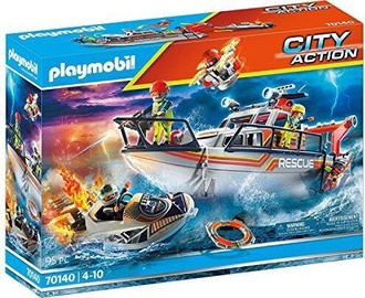 Конструктор Playmobil City Action Distress At Sea: Fire Fighting With Rescue 70140, 95 шт.