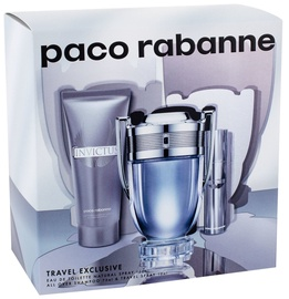 Paco Rabanne Invictus 100ml EDT + 750ml Shower Gel + 10ml EDT