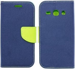 Telone Fancy Diary Bookstand Case For Apple iPhone X Blue/Light Green