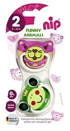 NIP Funny Animals Pacifiers 2pcs 5-18m