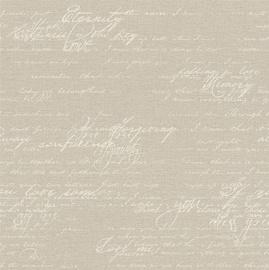 Flizelino tapetai, Rasch, 449563, Florentine II, smėliniai, su užrašais