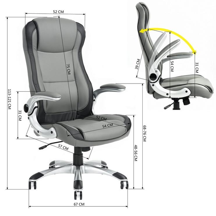 Biroja krēsls Brian, 63 x 68 x 113–121 cm