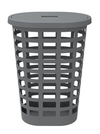Plast Team Boston Oval Laundry Basket 54l Grey