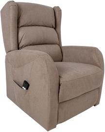 Fotelis Home4you Barny 13848, smėlio, 72x93x104 cm