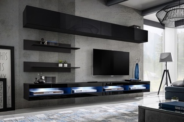 ASM Fly T1 Living Room Wall Unit Set Black