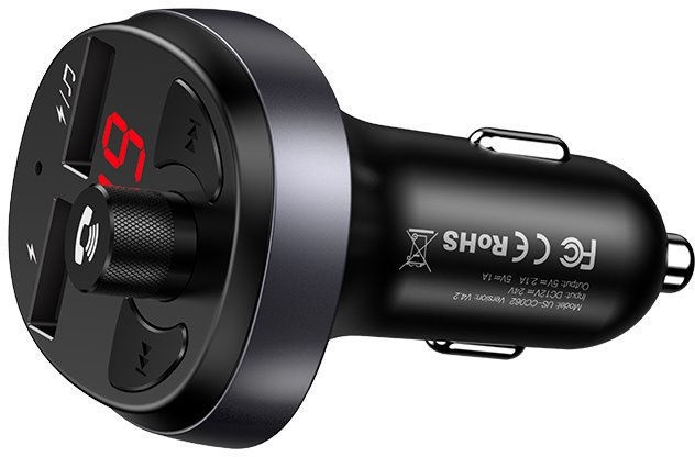 Usams 5in1 FM Transmitter/Car Charger/Bluetooth/Handsfree/USB Black