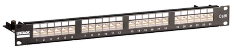 Linkbasic CAT 6 UTP Patch Panel 24-Port Black