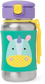 SkipHop Zoo Stainless Steel Little Kid STraw Bottle Unicorn