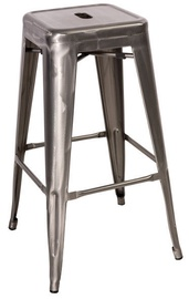 Signal Meble Hoker Long Bar Stool Brushed Steel