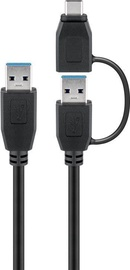 Goobay USB 3.0 Cable USB A To USB-C Adapter Black 1m