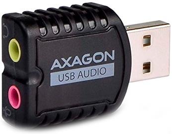 Skaņas plāksne Axagon USB Audio ADA-10, melna