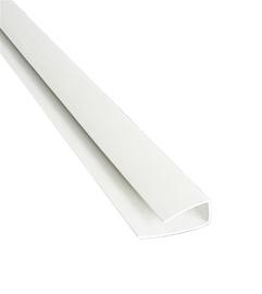 PVC nobeiguma profils 3m, balts, 40 gab.