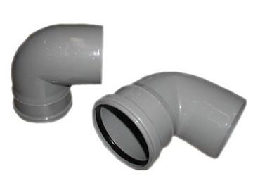 Kanalizācijas caurules 87° līkums Wavin D110mm, PVC