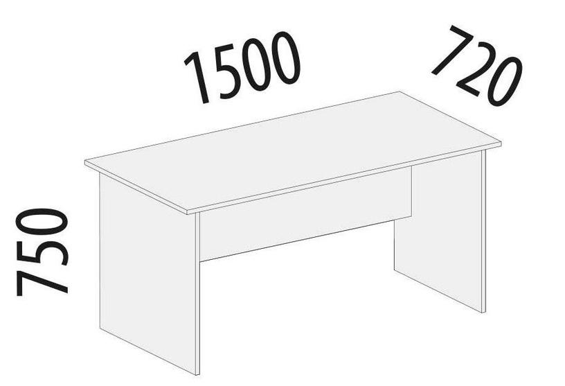 Rašomasis stalas DaVita Alfa 64.10 Kronberg Oak