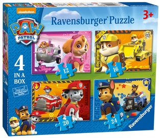 Puzle Ravensburger Pups Away 4in1 07033, 72 gab.