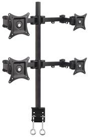 "Televizoriaus laikiklis Techly Quadruple Desk Monitor Arm Adjustable 13-27"""