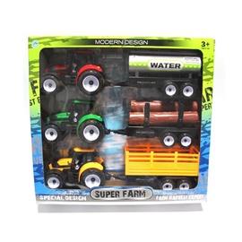 Žaisliniai traktoriai su priekabomis 3 vnt