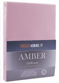 Palags DecoKing Amber, violeta, 160x200 cm, ar gumiju