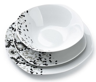 Mondex Gray Lea Dinner Set 18pcs