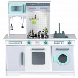 Laste mänguköök EcoToys Huge Wooden Kitchen Stove Set 668
