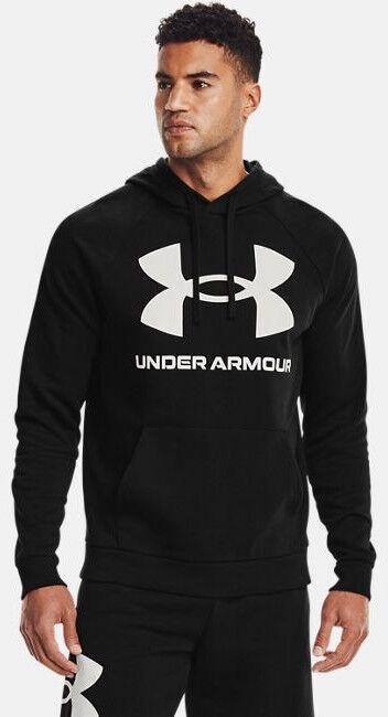 Under Armour Rival Fleece Big Logo Hoodie 1357093-001 Black S