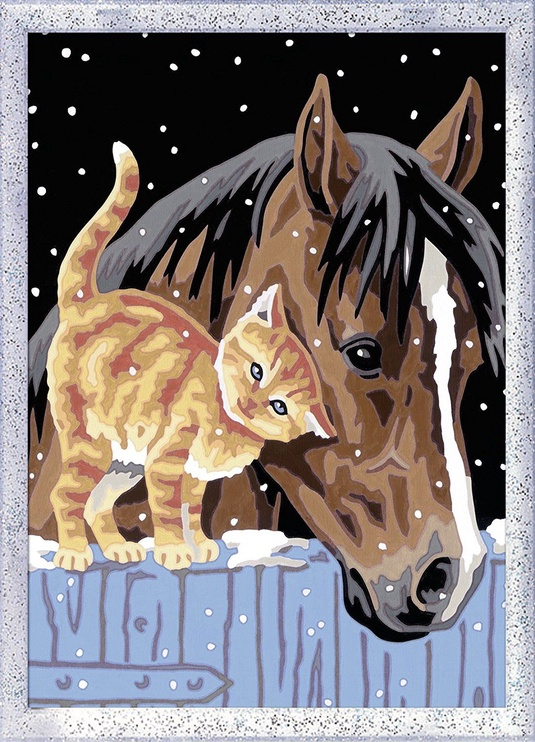 Ravensburger Painting By Numbers Foal With Kitten 285563