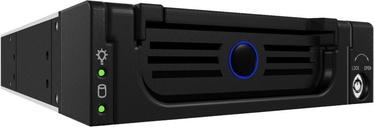 ICY BOX IB-138SK-B-II 5.25'' Mobile Rack for 3.5'' SATA HDD Aluminium Black