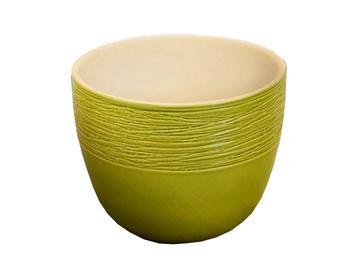 SN Ceramic Flower Pot Pleciony Jednolity Ø20cm Green