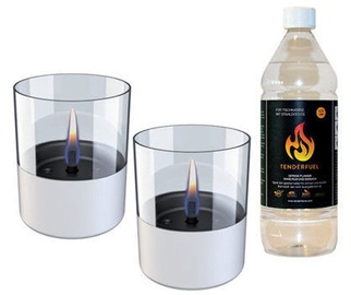 Tenderflame Lilly Table Burner Set 10cm White