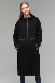 Audimas Warm Cotton Coat With Soft Inside Black S