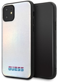 Guess Iridescent Back Case For Apple iPhone 11 Pro Max Silver